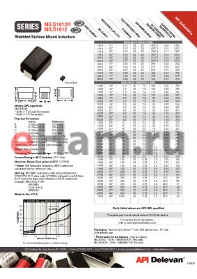 MILS1812R-682K datasheet - Shielded Surface Mount Inductors