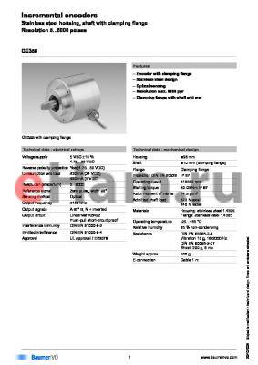 GE355.A223140 datasheet - Incremental encoders