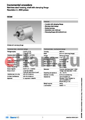 GE355.A224106 datasheet - Incremental encoders