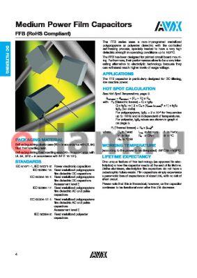 FFB24L0336K-- datasheet - Medium Power Film Capacitors
