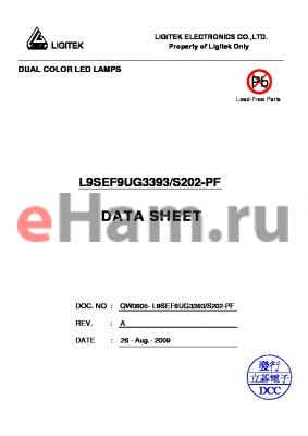 L9SEF9UG3393 datasheet - DUAL COLOR LED LAMPS