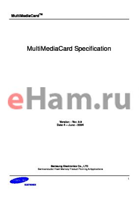 MC2DU064NCYA-0QC00 datasheet - MultiMediaCard Specification
