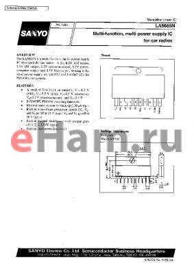 LA5685N datasheet - Multi-function,Multi-power supply IC for car radios