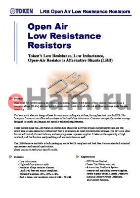 LRB054015JP datasheet - LRB Open Air Low Resistance Resistors