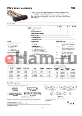 MJSB-42SL2 datasheet - Micro Center Jackscrew