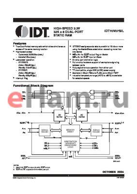 IDT70V07L25GI datasheet - HIGH-SPEED 3.3V 32K x 8 DUAL-PORT STATIC RAM