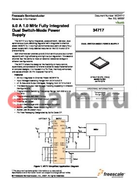 MC34717EPR2 datasheet - 5.0 A 1.0 MHz Fully Integrated Dual Switch-Mode Dual Switch-Mode Power Supply