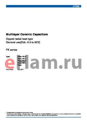 FK28X5R1E105K datasheet - Multilayer Ceramic Capacitors