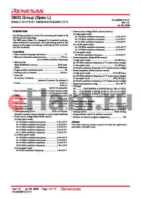 M38035F8L-XXXKP datasheet - SINGLE-CHIP 8-BIT CMOS MICROCOMPUTER
