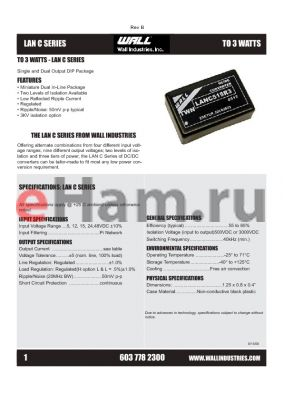 LANC2415R2 datasheet - Single and Dual Output DIP