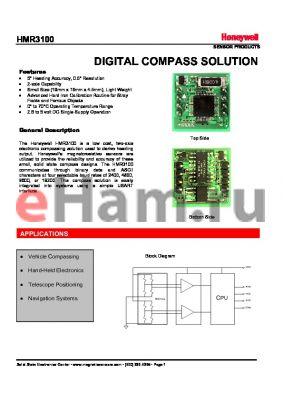 HMR3100-DEMO-232 datasheet - DIGITAL COMPASS SOLUTION