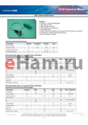 EDP-L-55B-U-SFCN-N datasheet - ELED Pigtailed Module