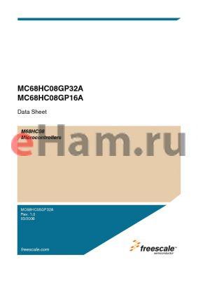 MC68HC08GP16ACB datasheet - Microcontrollers