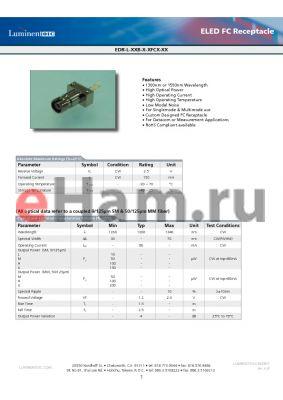 EDR-L-30B-L-SFCL datasheet - ELED FC Receptacle
