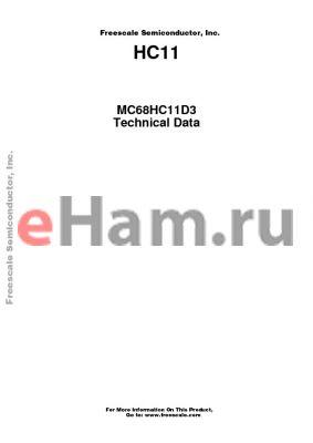 MC68HC11D3CFN1 datasheet - ROM-based high-performance microcontrollers