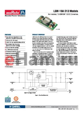 LSM-2.5/16-D12 datasheet - Non-Isolated, 13-80W SMT DC/DC Converters