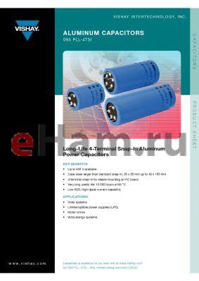MAL209517391E3 datasheet - Aluminum Capacitors Power Long Life 4 Terminal Snap-In