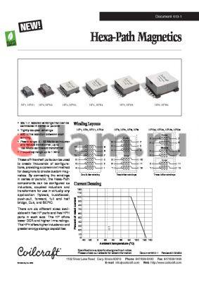 HPH6-0158L datasheet - Hexa-Path Magnetics