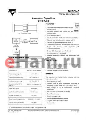 MAL212316221 datasheet - Aluminum Capacitors Solid Axial