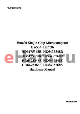 HD6475348STF datasheet - Single-Chip Microcomputer