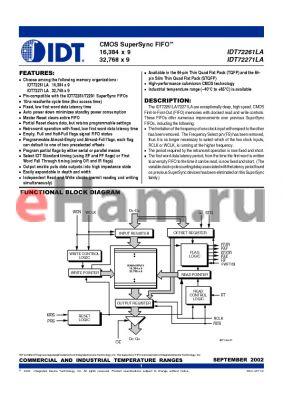 IDT72271LA10TF datasheet - CMOS SuperSync FIFO