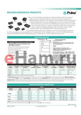 FL1553-2 datasheet - MILITARY/AEROSPACE PRODUCTS