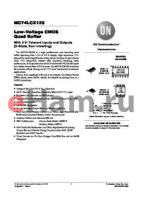 MC74LCX125_12 datasheet - Low-Voltage CMOS Quad Buffer