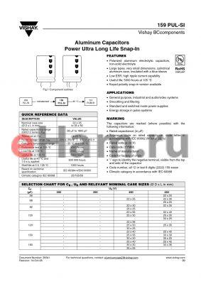 MAL215963271E3 datasheet - Aluminum Capacitors Power Ultra Long Life Snap-In