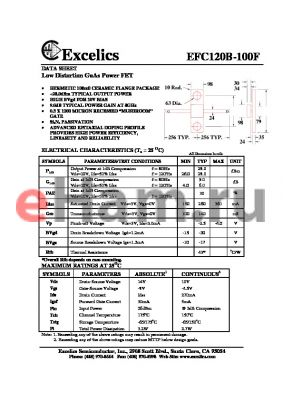 EFC120 datasheet - Low Distortion GaAs Power FET