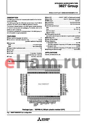 M38270E2-XXXFS datasheet - SINGLE-CHIP 8-BIT CMOS MICROCOMPUTER