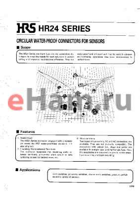 HR24A-8DLPA4PA2200B datasheet - CIRCULAR WATER-PROOF CONNECTORS FOR SENSORS