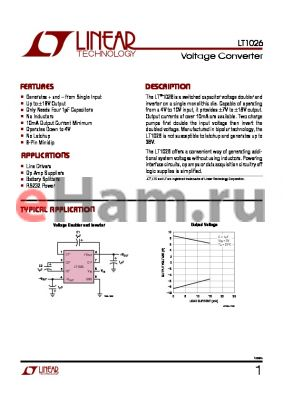 LT1026MH datasheet - Voltage Converter