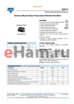 EGF1THE3-5CA datasheet - Surface Mount Glass Passivated Ultrafast Rectifier