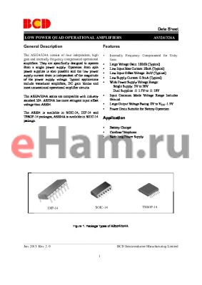EGS324 datasheet - LOW POWER QUAD OPERATIONAL AMPLIFIERS