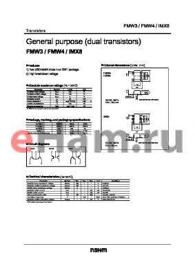 FMW3 datasheet - General purpose (dual transistors)