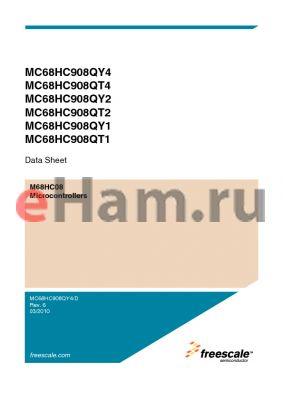 MC908QY2VDTE datasheet - M68HC08 Microcontrollers