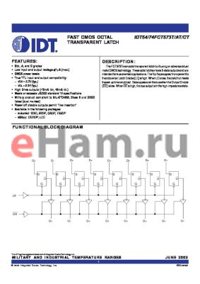 IDT74FCT573TPY datasheet - FAST CMOS OCTAL TRANSPARENT LATCH