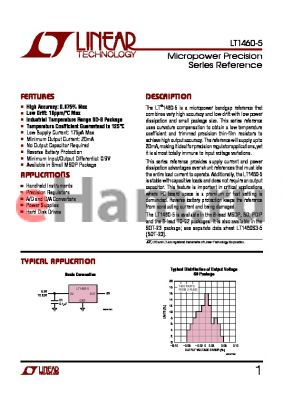 LT1460ACS8-5 datasheet - Micropower Precision Series Reference