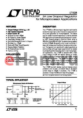 LT1528CQ datasheet - 3A Low Dropout Regulator for Microprocessor Applications