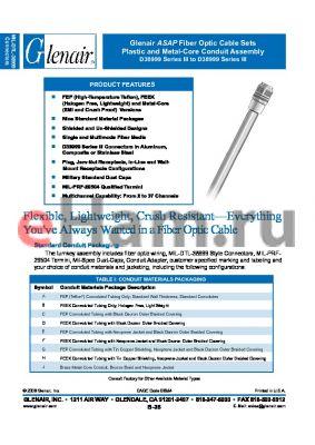 FO1001P06PT7 datasheet - Fiber Optic Cable Sets Plastic and Metal-Core Conduit Assembly