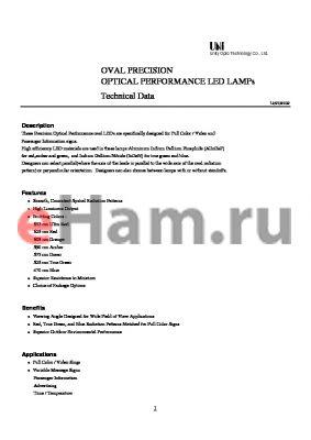 MVL-634UROK-S datasheet - OVAL PRECISION OPTICAL PERFORMANCE LED LAMPs