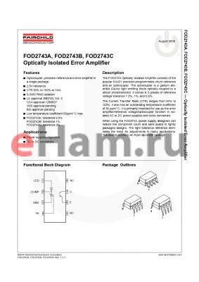 FOD2743C datasheet - Optically Isolated Error Amplifier