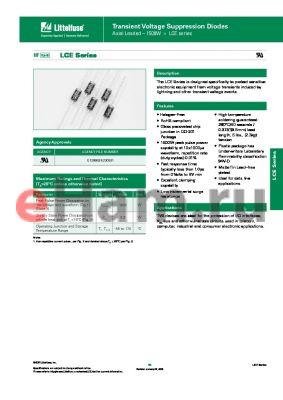 LCE51A datasheet - Transient Voltage Suppression Diodes