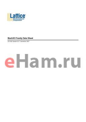 LCMXO640LUTSE-3MN132IES datasheet - MachXO Family Data Sheet