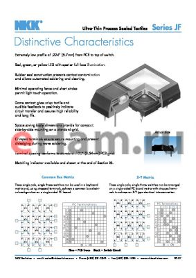 JF15RP2DE datasheet - Ultra-Thin Process Sealed Tactiles