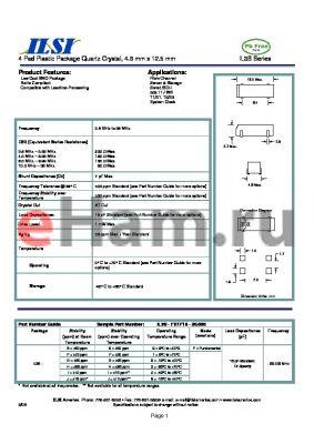 IL3S-GF3F18-20.000 datasheet - 4 Pad Plastic Package Quartz Crystal, 4.6 mm x 12.5 mm
