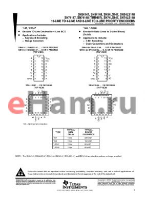 JM38510/36001BEA datasheet - 10-LINE TO 4-LINE AND 8-LINE TO 3-LINE PRIORITY ENCODERS