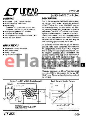 LTC1041 datasheet - BANG-BANG Controller