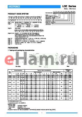 LDEDA2220 datasheet - PEN-PET H.T