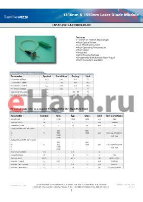 LDP-FC-55Z-H-T-DSFCN datasheet - 1310nm & 1550nm Laser Diode Module